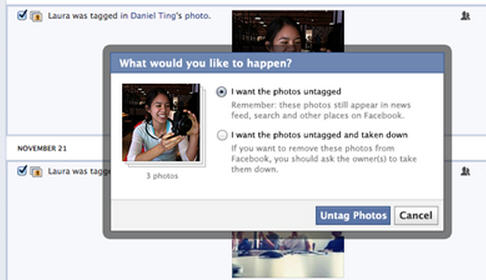Tool lets you request photo be untagged or taken down