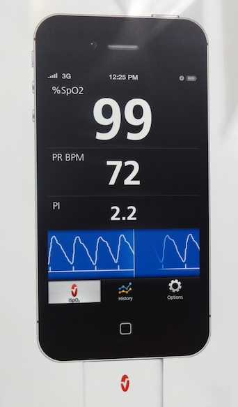 IsoB displays your pulse and blood oxygen level on iOS device