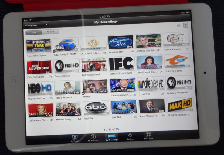 Dish's iPad app lets you transfer videos from your DVR to your iPad (Photo: Larry Magid)