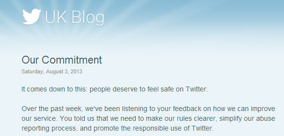 Twitter blog post shares their commitment to fight abuse