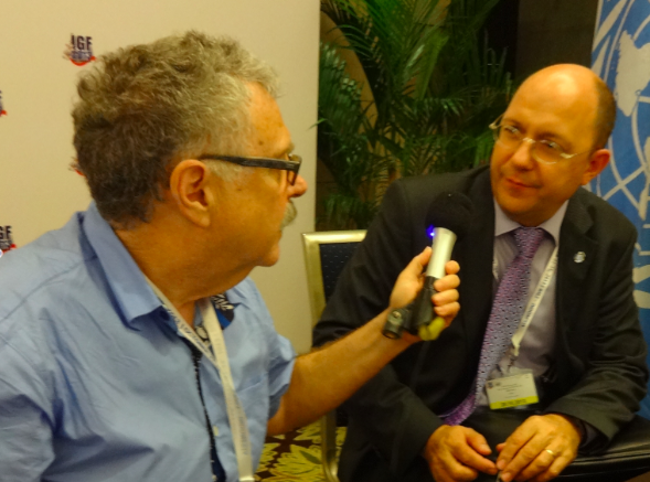 Larry Magid interview Thomas Gans, UN Assistant Secretary General for Economic and Social Affairs