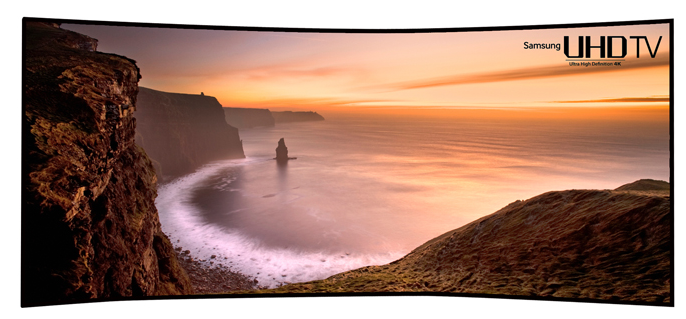 Samsung 105 inch curved TV