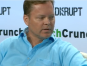 Viv creator Dag Kittlaus speaking at TechCrunch Disrupt (image from YouTube video)