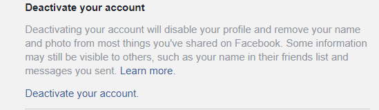 How to deactivate or permanently cancel a Facebook account